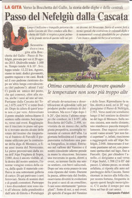 Gita n. 33 del 2015 BOCCHETTA DEL GALLO E PASSO DI NEFELGIU'