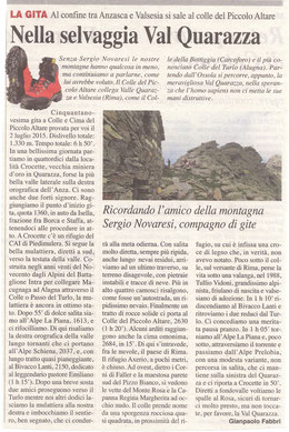 Gita n. 26 del 2015 COLLE DEL PICCOLO ALTARE