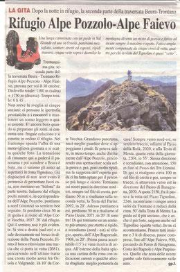 Gita n. 44 del 2014 ALPE POZZOLO - FAIEVO