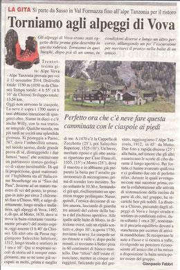 Gita n. 46 del 2014 ALPEGGI DI VOVA