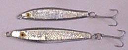 plombs de pêche : cuiller chromée sardine