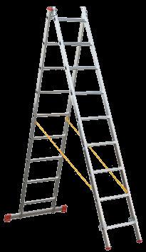 Escalera transformable 2 tramos