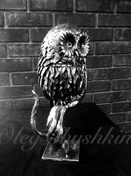"""The Owl"". Detail of Project ""Anne's Memorial Garden""."
