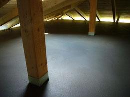 Schutzbeton - Dachboden
