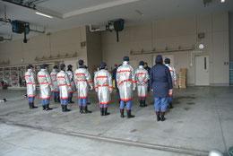 初任者の礼式訓練