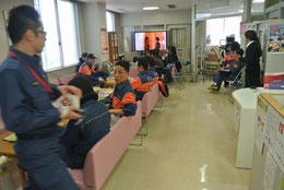 献血の待合室