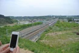 富山方面からの新幹線
