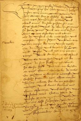 Kurfürstliche Empfehlung eines Orgelbauers, 1519