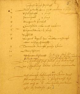 Urdispositionskonzept der Scherer-Orgel, 1572, Seite 2
