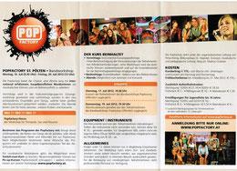 Flyer Popfactory 2012
