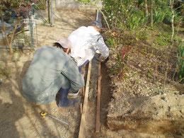 縁石 基礎工事