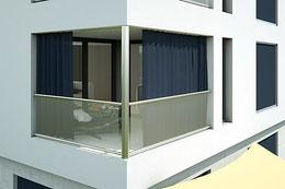 Aussenvorhang / Outdoorvorhang / Balkonvorhang / Vorhang / Vorhangfachgeschäft / Sonnenschutz / Sichtschutz