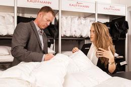 Duvetsberatung, Zudeckenberatung, Bettenfachgeschäft, Schlafklima, Ruoss