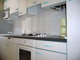 La cuisine équipée avec four, lave-vaisselle,etc...