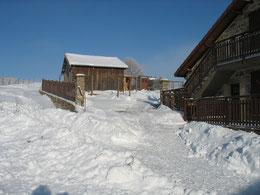 Gîte l'hiver