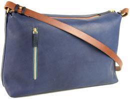 sac main en cuir bleu marine, Dune Saule Paris, Label Fabriqué à Paris