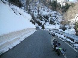立木から木川ダム事務所までは除雪済み