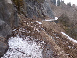 ▲雪崩はそんなに多くありません。