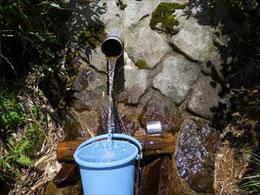 ▲銀玉水は5月の時とは違い、管理人さんのおかげで利用しやすくなっていました。