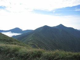 西朝日岳山頂からの眺め