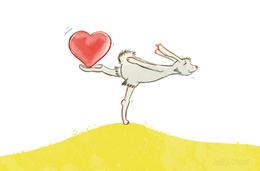 Hase und Herz, verliebt, Valentinstag, Liebe, Judith Ganter Illustration und Geschenkartikel bei Redbubble