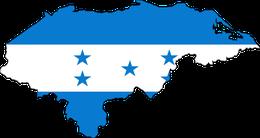 Geografische Karte kombiniert mit der Nationalflagge von Honduras