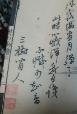 日根對山画の三樹三郎の賛とされるもの