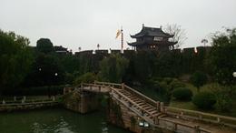 呉の国蘇州ゆうぐれの盤門