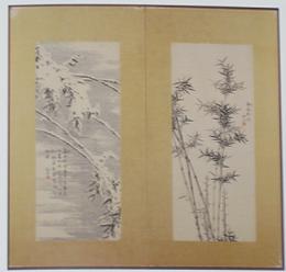 細香筆四季之竹図、冬、夏(屏風)