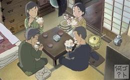 楠公飯を食べる一場面