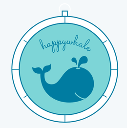 Galapagos Shark Diving - happy whale Logo