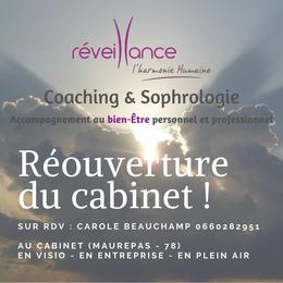 Réveillance, cabinet de Coaching & Sophrologie à Maurepas dans les Yvelines