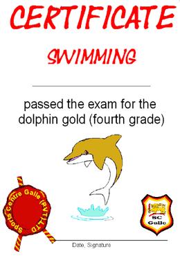 Certificate gold