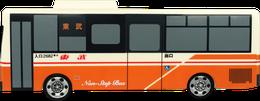 貯金箱 バス型 側面