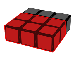 Desired 3x2x1 block.