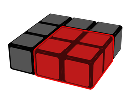 Desired 2x2x1 block.