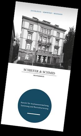 Fotografie: Peter Scheerer, Stuttgart - Flyer Insolvenzverwaltung Schiefer & Schmid Rechtsanwälte, Stuttgart