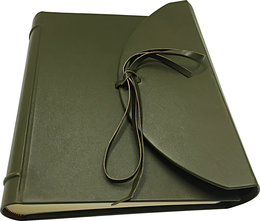 Leather photo album italian