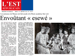 Les jumeaux de Masao article journal L'Est Republicain