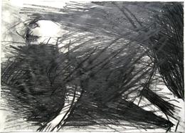 Otto Lehmann, Zeichnung Bleistift, Mann halb kniend, halb liegend