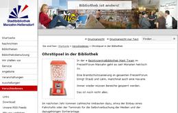 Ohrstöpsel Automat der Stadtbibliothek Berlin-Marzahn