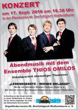 Thios Omilos, Lebensgebet, Wiener Melange, Orgelföderverein, Klais-Orgel, Hl. Dreifaltigkeit