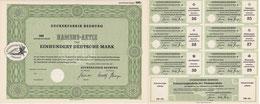 Zuckerfabrik Bedburg 100 DM Muster mit Teil des KB