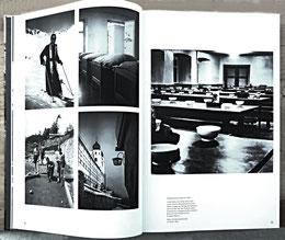 Aufnahmen aus den Jahren 1950-1954 aus Disentis. Rechts der Speisesall.