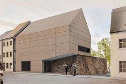 So könnte der Anbau des Karl-May-Haus aussehen. Entwurf: Raum und Bau GmbH