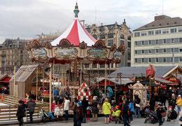 Rösslispiel auf dem Sechseläuten-Platz in Zürich 2017