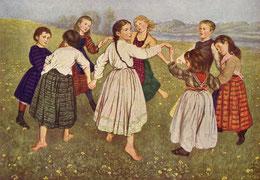 Kinderreigen - Gemälde von Hans Thoma, 1872