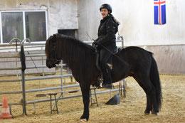 Vivianne mit Njördur frá Teigi II
