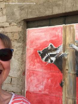 Aggius Street-Art Kunst Open-Air-Kunst Sardinien Ellen Warstat Reisen-mit-Genuss.de
