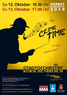 Konzertplakat 2019 Stadtorchester Korschenbroich - Gestaltung: Alexandra Böttges